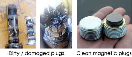 dirty-damaged-magnetic-plugs